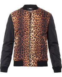 Moschino Animalprint Bomber Jacket - Lyst