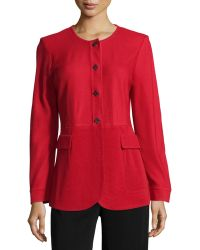 Misook   Long-sleeve Woven Jacket W/embellished Buttons   Lyst