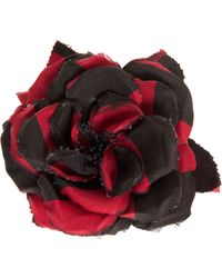 Alessandra Rich Silk Flower Pin - Lyst