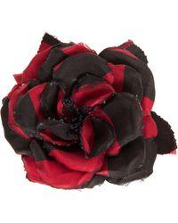 Alessandra Rich Silk Flower Pin multicolor - Lyst