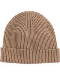 J.Crew Beige Cashmere Hat - Lyst