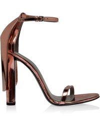 Alexander Wang Fabianna Blush Metallic Sandal - Lyst