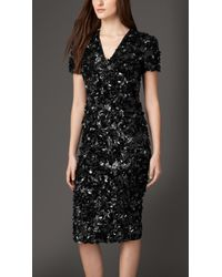 Burberry Crushed Sequin Dress - Lyst