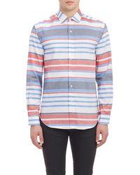 Barneys New York Oxford Cloth Shirt - Lyst