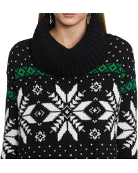 Polo Ralph Lauren Patterned Turtleneck Sweater - Lyst