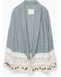 Zara Folk Style Kimono - Lyst