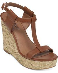 Lucky Brand Women'S Lovell Platform Wedge Sandals - Lyst
