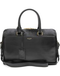Saint Laurent - Duffle 6 Leather And Calf Hair Bowling Bag - Lyst
