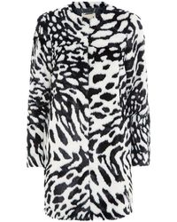 MICHAEL Michael Kors Animal Print Faux Fur Coat - Lyst