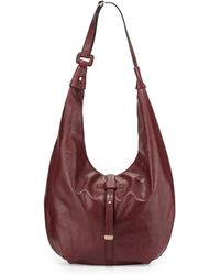 Halston Heritage | Buckled-Strap Leather Hobo | Lyst