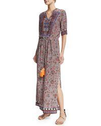 Hemant And Nandita | Half-sleeve Carpet-print Midi Dress | Lyst