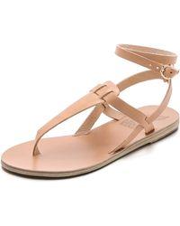 Ancient Greek Sandals Estia Thong Sandals - Natural - Lyst