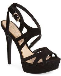 Jessica Simpson 'Presslie' Ankle Strap Platform Sandal - Lyst