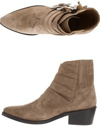 Toga Pulla Four Buckle Suede Boot - Lyst