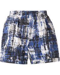 Sea Brush Stroke Print Shorts - Lyst