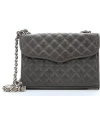 Rebecca Minkoff Charcoal Quilted Leather Mini Affair Shoulder Bag - Lyst
