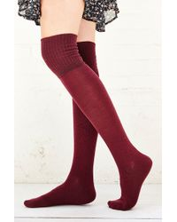 Urban Outfitters - Ribbed-Cuff Over-The-Knee-Sock - Lyst