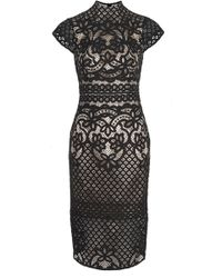 Lover Libra Midi Dress Black - Lyst