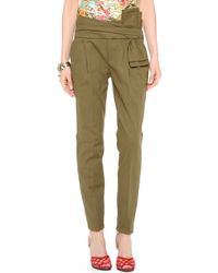 Moschino Pants with Bow Detail - Brown