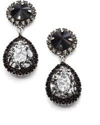 DANNIJO Noir Monaco Crystal Drop Earrings - Lyst