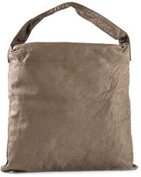 Arts & Science Square Tote - Brown
