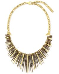 Vince Camuto - Gold-tone Stone Drama Collar Necklace - Lyst