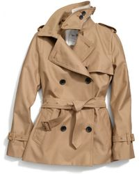 COACH Classic Short Trench - Natural