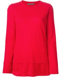 Alberta Ferretti Layered Sweater - Lyst