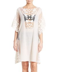 Amita Naithani - Lace Crochet Cover-up - Lyst