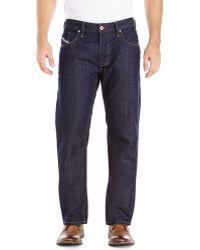 Diesel Dark Wash Larkee Straight Jeans - Lyst