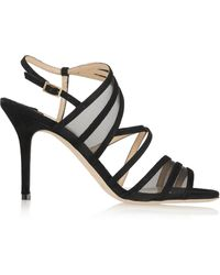 Jimmy Choo Vora Suede and Mesh Sandals - Lyst