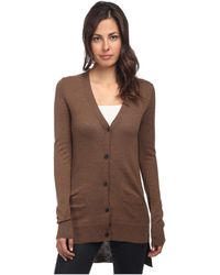 Vera Wang Cardigan with Tuxedo Tail  Back Intarsia Stop It - Lyst