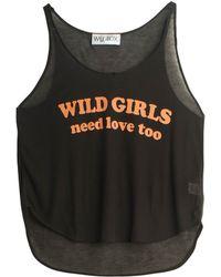 Wildfox Wild Girls Tank Top black - Lyst