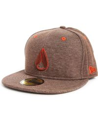 Nixon High 5 New Era Dark Brown Cap - Lyst