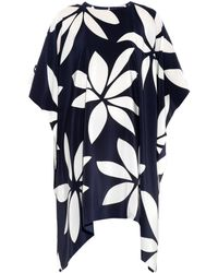 Issa Kylie Floral-Print Silk Tunic Top - Lyst