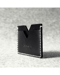 Charbonize Handcrafted Leather Card Holder - Lyst