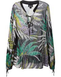 Just Cavalli Foliage Print Blouse - Lyst