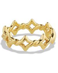David Yurman Venetian Quatrefoil Stacking Ring in Gold - Lyst