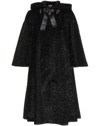 Alexander McQueen Faux Fur Hooded Coat - Lyst
