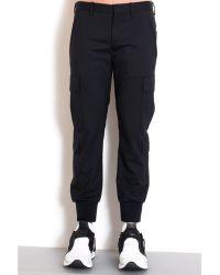 Neil Barrett Black Skinny Pants black - Lyst