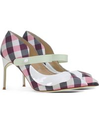 Giannico | Gingham-Print Pumps | Lyst