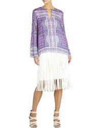 BCBGMAXAZRIA Haida Long-Sleeve Printed Top - Lyst