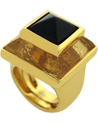 Vince Camuto - Clearview Double Stone Pyramid Ring - Lyst