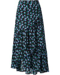 Stella McCartney Tiered Print Skirt - Lyst