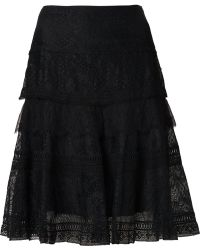 Nina Ricci Lace Skirt - Lyst