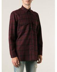 Saint Laurent Boxy Plaid Shirt - Lyst