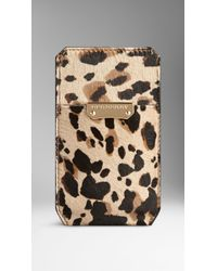 Burberry Animal Print Ponyskin Iphone 5/5S Case - Lyst