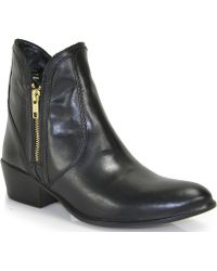 Steve Madden Zipster - Leather Bootie - Lyst