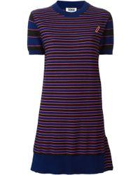 Sonia By Sonia Rykiel Stripe Knitted Dress - Lyst