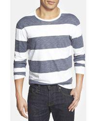 Grayers Stripe Long Sleeve Crewneck T-Shirt - Lyst